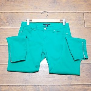 Forever 21 Green Stretch Skinny Pants Sz 28